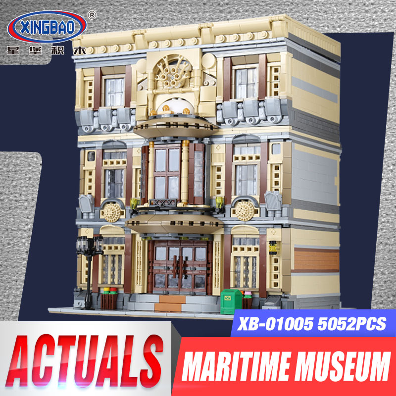 XingBao 01005 5052Pcs Genuine Creative MOC City Series The Maritime Museum Set Children Building Blocks Bricks Toy Birthday Gift the maritime engineering reference book