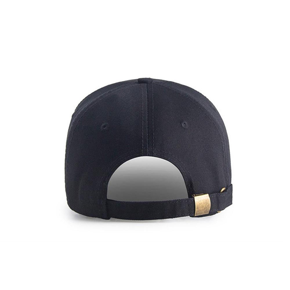 New Black Sport Baseball Cap Solid Women Men Cap Cotton Fabric Unisex Hip Hop Caps Male Dad Hat Bone Metal Buckle Adjustable in Men 39 s Baseball Caps from Apparel Accessories