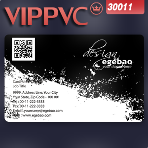 a30011  Credit card size Transparent Business Card