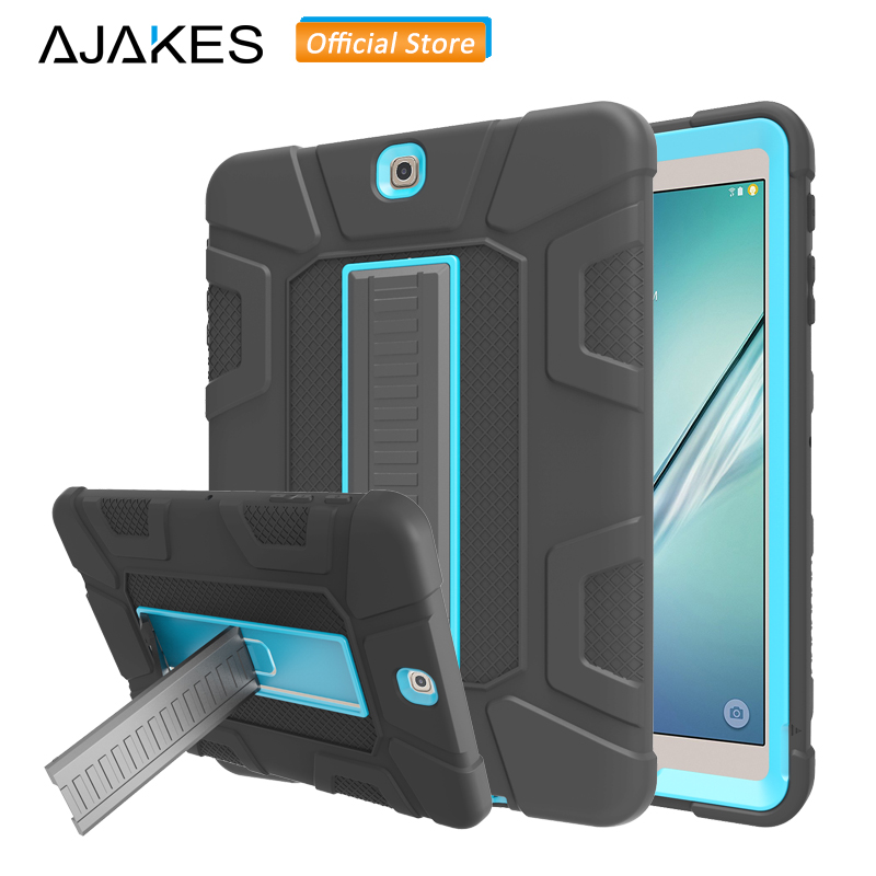 AJAKES Shockproof Case for Samsung Galaxy Tab S2 9.7 Hybrid Heavy Duty Full Protect Cover w/Kickstand for Tab S2 SM-T810 T815 lovemei shockproof gorilla glass metal case for galaxy note4 n9100