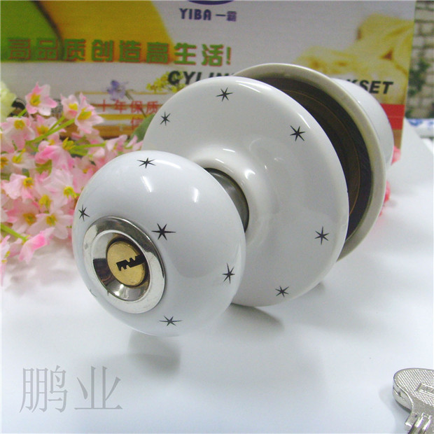 Ceramic lock the door when indoor European ball lock hold hand lock copper core  S-008 vicky ward the liar s ball