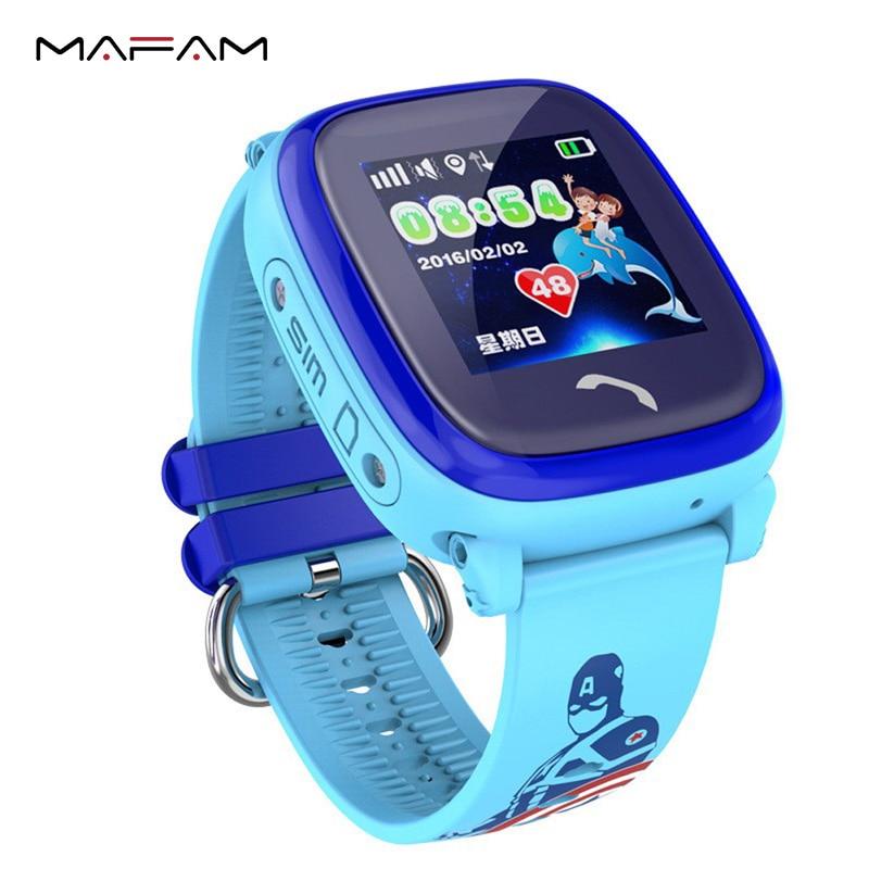 MAFAM DF25 GPS Smart Watch for Kids Children SIM Touch Screen SOS Call Waterproof Remote Control SeTracker2 PK Q90 Smart Watch