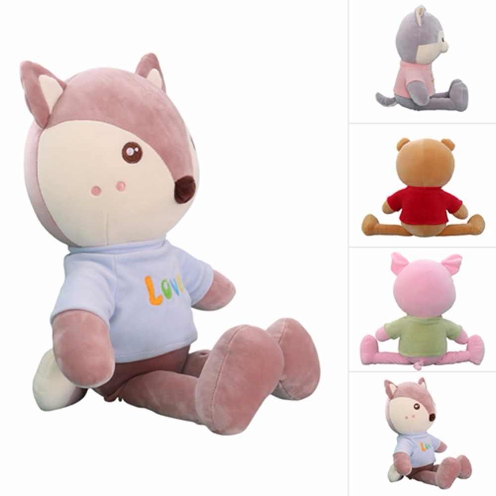 Милой аппликацией в виде животного PlushToy, плюшевый медведь, в виде мультяшных зверей, игрушки подушки подушечные куклы игрушки для детей, любящих подарок