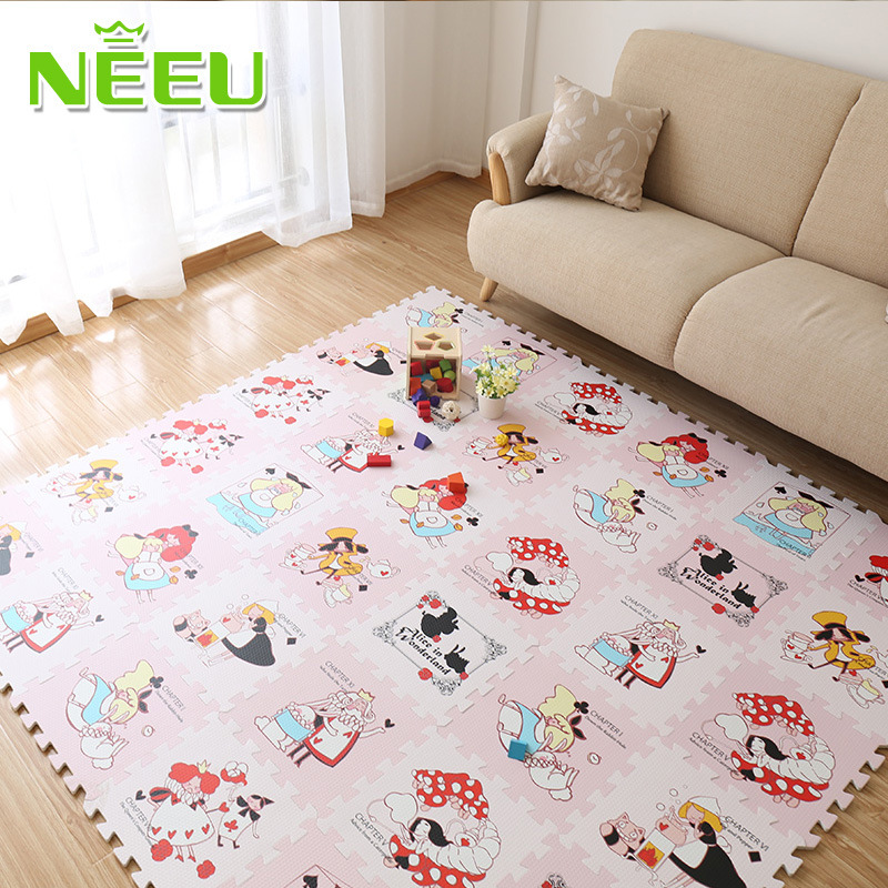Soft puzzle crawling pad foam floor mat moistureproof non for Mats for kids room