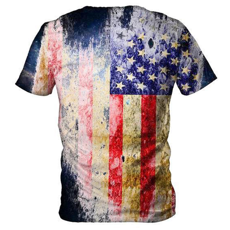 Mens Graphic T-Shirt Mens American Flag T-Shirt Patriotic Vintage Shirts Hipster Short Sleeve Hip Hop Tee Shirt PDAs, Handhelds & Accessories Office Products