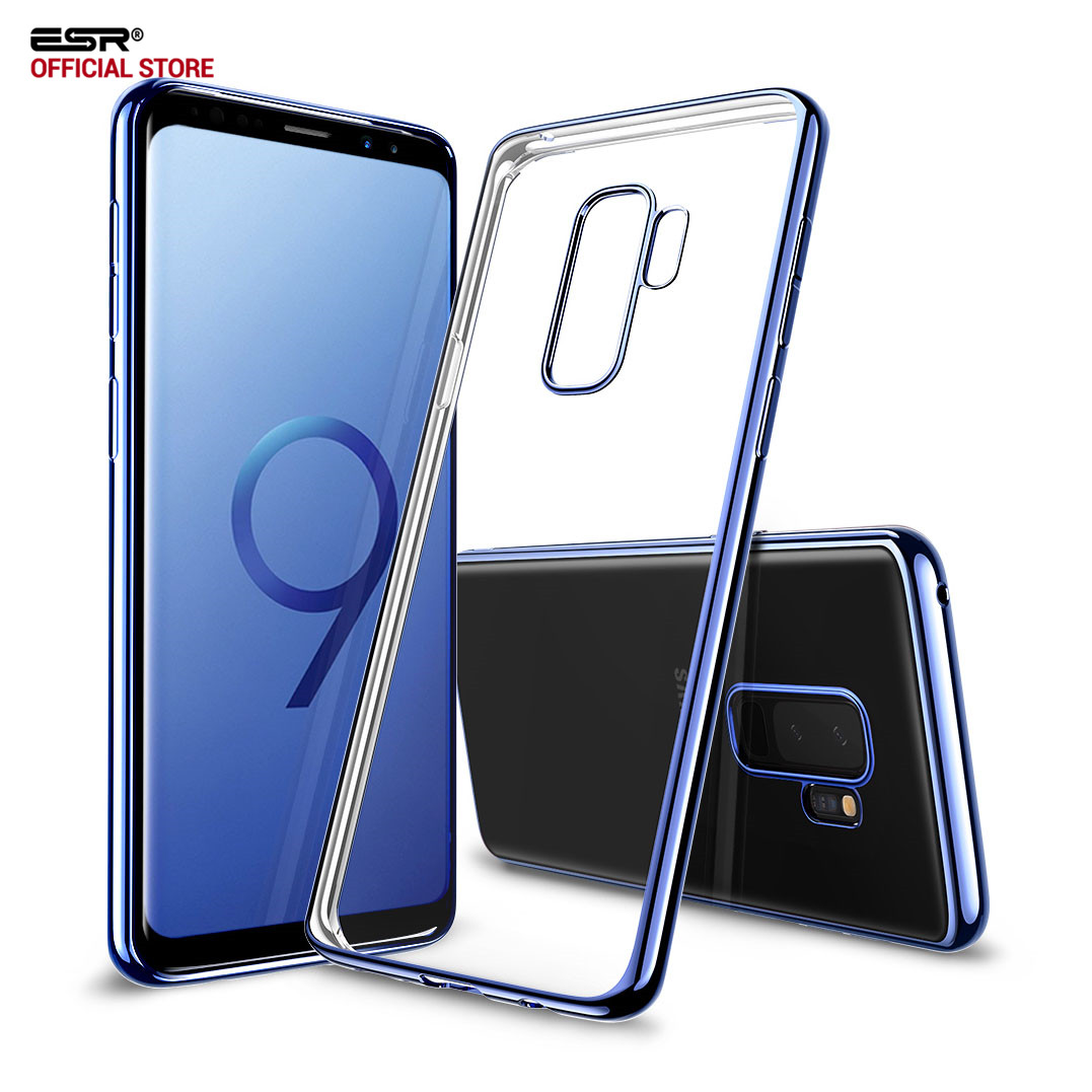 Case for Samsung Galaxy S9 S9 Plus ESR Clear Soft TPU Plating Frame Bright Glossy Metal Coloring Bumper Back Cover Fundas