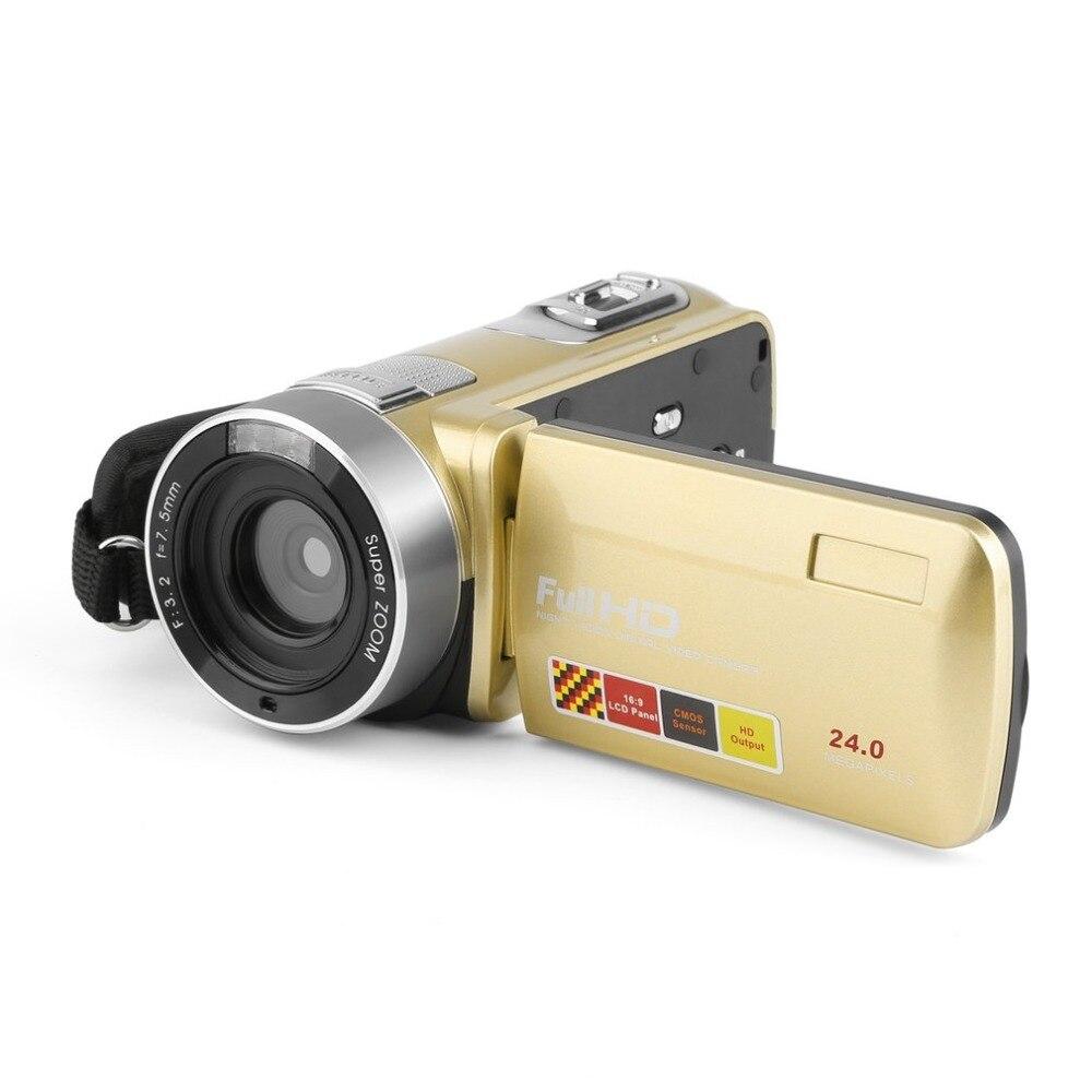 Portable Vision nocturne FHD 1920x1080 3.0 pouces LCD écran tactile 18X24 MP caméra vidéo numérique caméscope