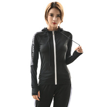 Autumn and Winter Yoga Clothes Breathable Quick-drying Hooded Sports Jacket Sportswear Coat