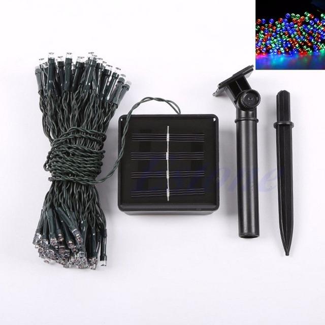 100 Led de Energía Solar Lámpara de La Secuencia de Hadas de Luz Del Partido de Halloween de Navidad Deco Al Aire Libre Y103