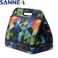 SANNE Fashion Women Portable Lunch Bag Insulated Cooler Bags Thermal Food Picnic Lunch Bags Kids Lunch