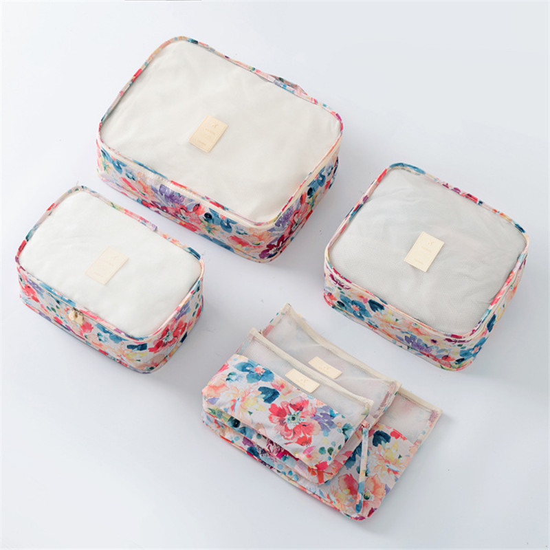 BAGSMALL Vattentät Rese Väskor 6st / Set Packing Cubes Nylon Bagage - Väskor för bagage och resor - Foto 2