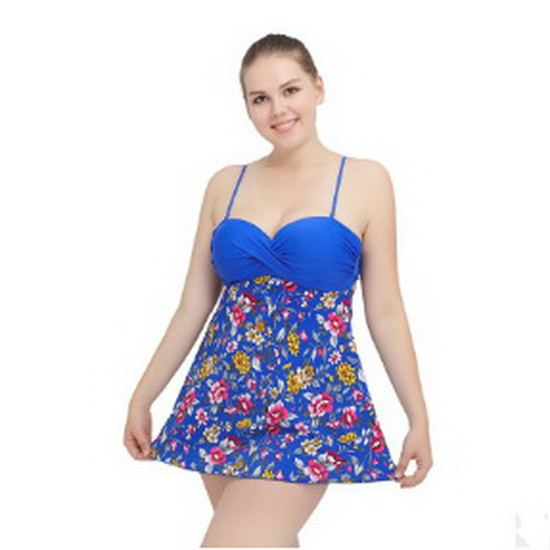 Women's One-Piece Swimwear 2018 New Sexy Plus Size Push Up High Waist Skirt Swimsuit Wear Size XL~4XL 2017 new sexy one piece swimsuit strappy biquini high waist one piece swimwear women bodysuit plus size bathing suits monokinis