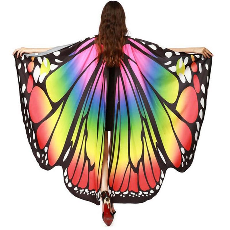 Женский пляжный костюм с крыльями бабочки, накидка, шарф-Пашмина, пончо, аксессуары, костюмы для праздников, 2019