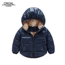 70 120cm Winter Newborn Baby Snowsuit Cotton Girls Coats And Jackets Baby Warm Overall Kids Boy