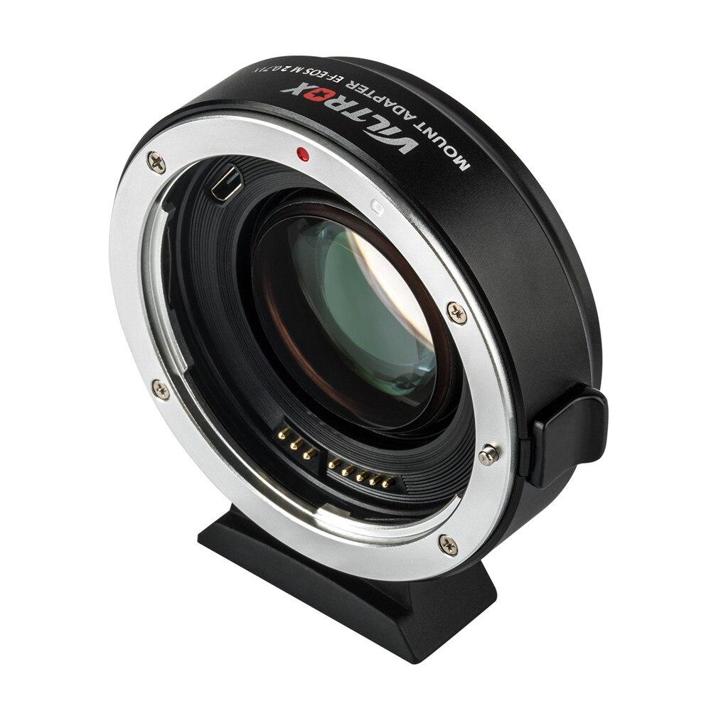 Viltrox EF-EOS M2 0.71x réducteur de mise au point automatique Booster de vitesse adaptateur de montage d'objectif pour Canon EF objectif à Canon M5 M6 M10 M50 M10 caméra