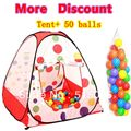 Kids girl gift promotion price spot child toy tent +50 ocean balls kids game house indoor and outdoor play tent ZP5001