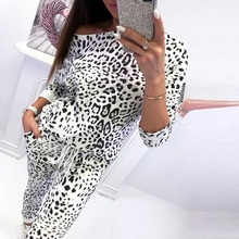 Explosion jumpsuits for women 2018 fashion body woman long sleeve with pocket camouflage suit new leopard bodysuit