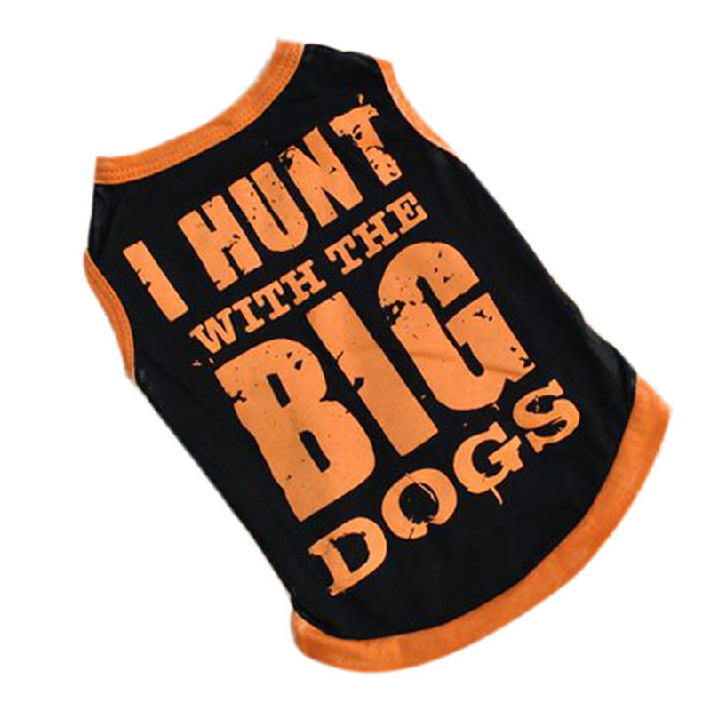 Hot Sale Summer Breathable Cozy Dog Clothes & Sport Style Vest T-shirt With BIG Patterned Pet Clothing mascotas Smile