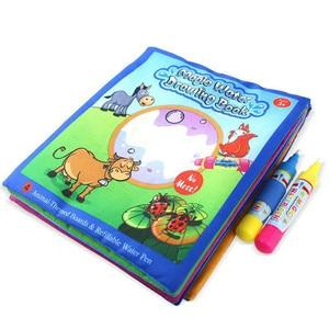 Детская мягкая ткань, волшебная ручка для рисования водой, коврик для рисования животных, книжка-раскраска для раннего развития, доска для р...