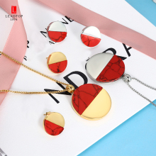 Red Jewelry Sets You Choose Color Stainless Steel Women Jewelry Sets Personalized Bridesmaid Jewelry Women Colorful