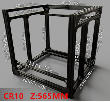 Funssor BLV mgn Cube Frame extrusion +MGN 12H Rails kit For DIY CR10 3D Printer Z height 565MM
