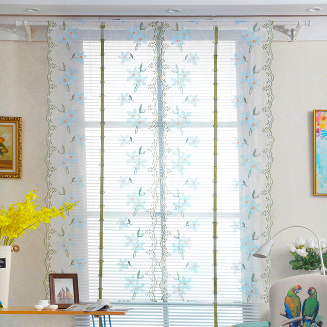 Fenster Küche Bad Vorhänge Hebe Roll Up Printed Blume Römischen Fenster Screening  Decor Gestickte Vorhang