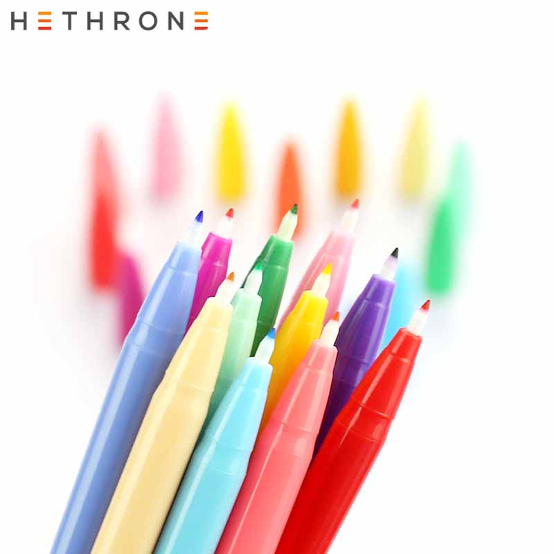 Hethrone 1pcs 0.5mm Korea Graffiti Pen Waterbased Pen Fineliner Art Mark Pen Watercolor Pen Line Drawing Pen Fiber Stroke Pen