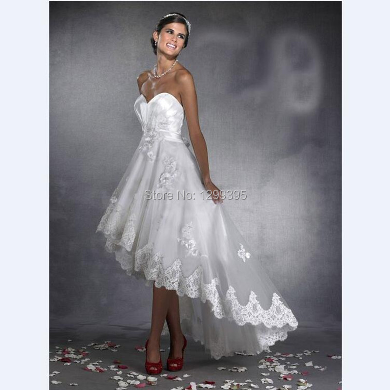 Country Wedding Dress White Ivory Champagne Vintage Sleeveless Beach High Low Dresses In From