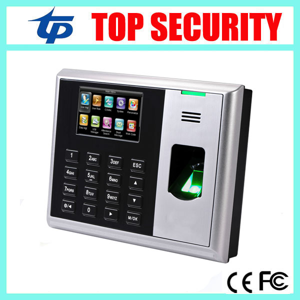 TCP/IP ZK software fingerprint time attendance color screen fingerprint time recording time clock S30 hot selling 3 high speed good quality 30000 user capacity color screen time attendance time clock m200 with tcp ip rj45