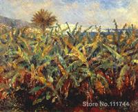 Oil painting Landscape Field of Banana Trees Pierre Auguste Renoir artwork for sale Handmade High quality