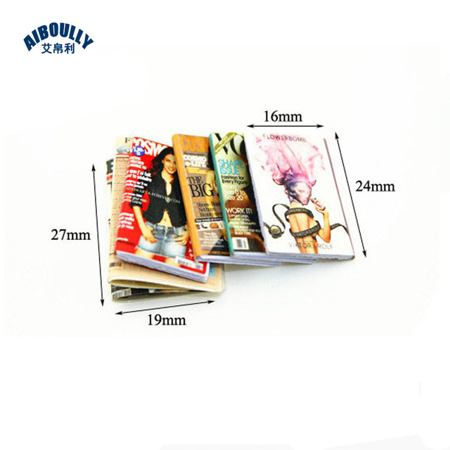 10Set/Lot DOLLHOUSE miniature food scene model small cloth doll house accessories mini magazine Doll Accessories