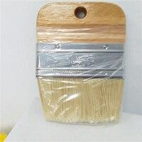 1 pc punho de madeira pintura giz escova plana cerdas giz pintura a óleo escova de cera artista arte suprimentos mão conjunto de ferramentas livre shi
