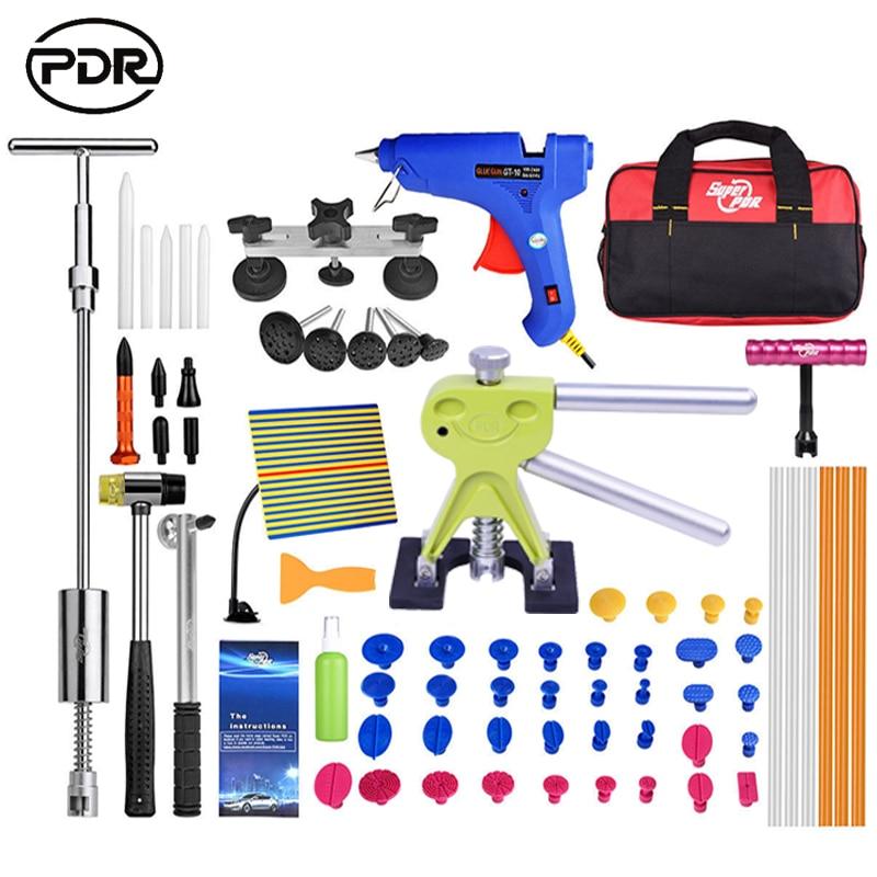 PDR Kit Car Body Repair Kit Dent Removal Paintless Dent Repair Auto Repair Tools Dent Lifter Slide Hammer High Quality