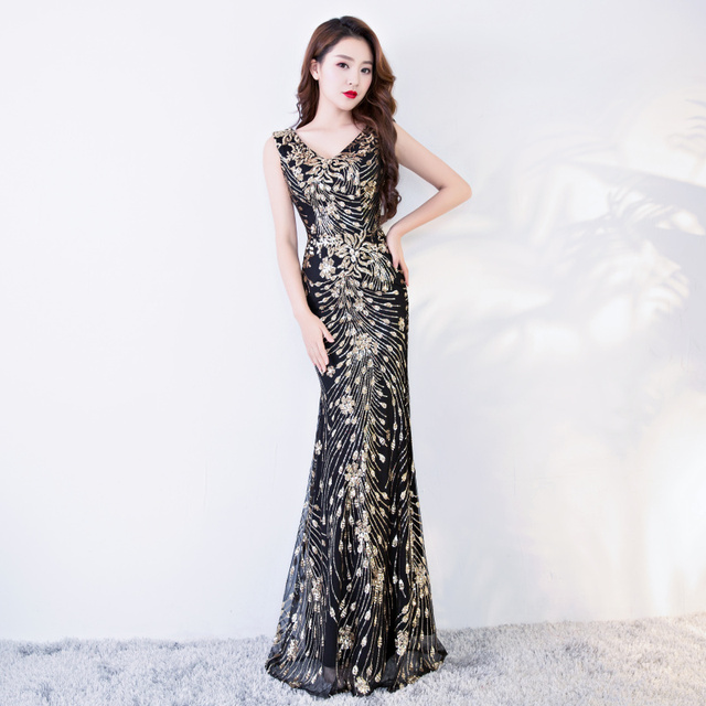 #party #Women #Mermaid #Gold Long #Prom Evening #Dress #grl #fashion #boygrl
