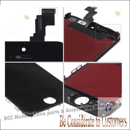 ФОТО 3pcs/Lot For iPhone 5C LCD Display Touch Screen digitizer+Frame assembly All Original Free Shipping 100% gurantee Best quality
