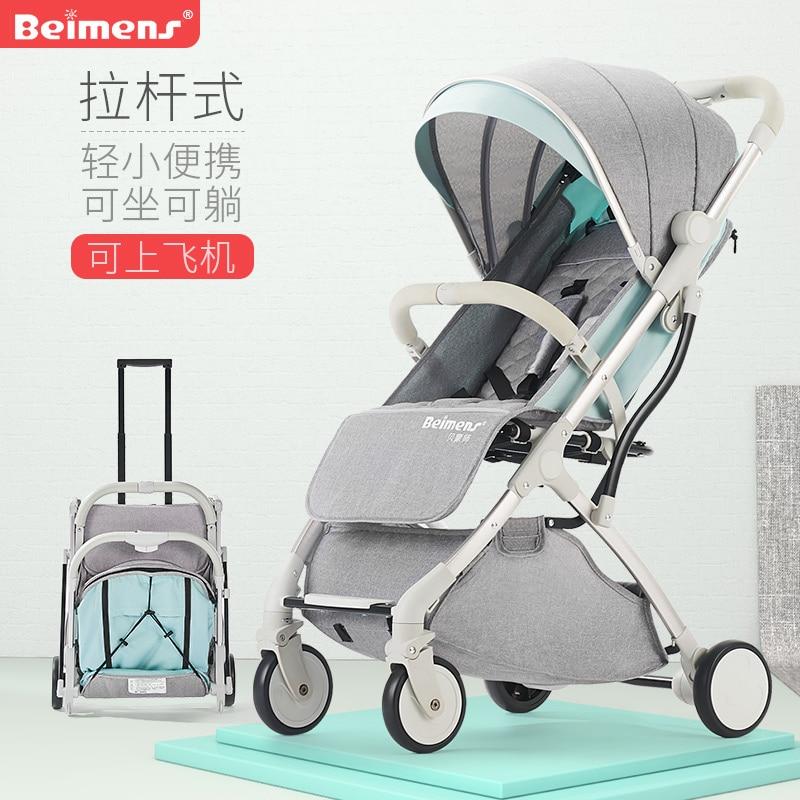 brand baby klapvogn super lys 4.9kg højt landskab baby klapvogn baby bil lys bil paraply ultra-light barn baby klapvogn