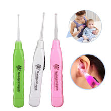 1pcs Ear-pick Ear Wax Cerumen Remover Cleaner Curette With LED Flashlight Light