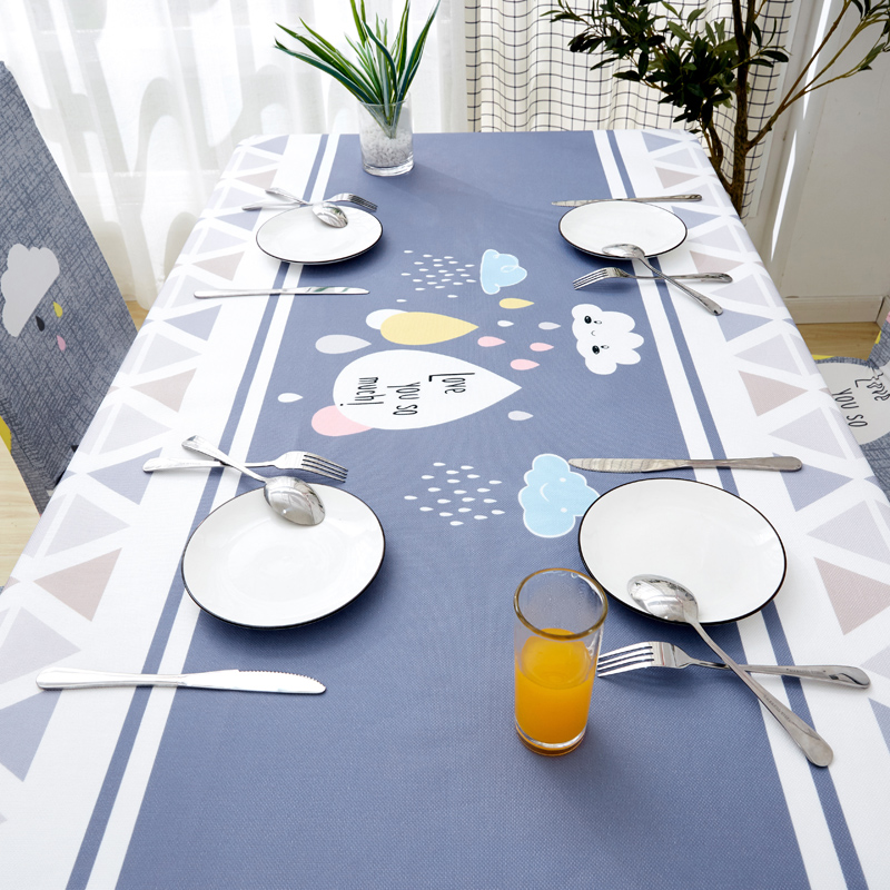 Image 5 - Parkshin Modern Decorative Tablecloth Home Kitchen Rectangle Waterproof Table Cloths Party Banquet Dining Table Cover 4 Size-in Tablecloths from Home & Garden