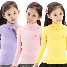 2017 Candy Color Girl Sweaters Fashion Cotton Crochet Kids Knitwear Slim Children's Clothes Autumn Outerwear Pullovers Spring