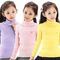 2017 Cukierki Kolor Dziewczyna Swetry Moda Bawełniane Ubrania Dla Dzieci Jesień Odzież Wierzchnia Swetry Dla Dzieci Szydełka Dzianina Slim Wiosna