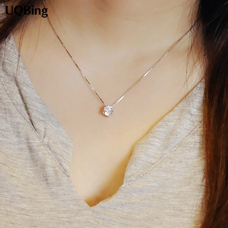 2017 New Drop Shipping 925 Sterling Silver Necklaces