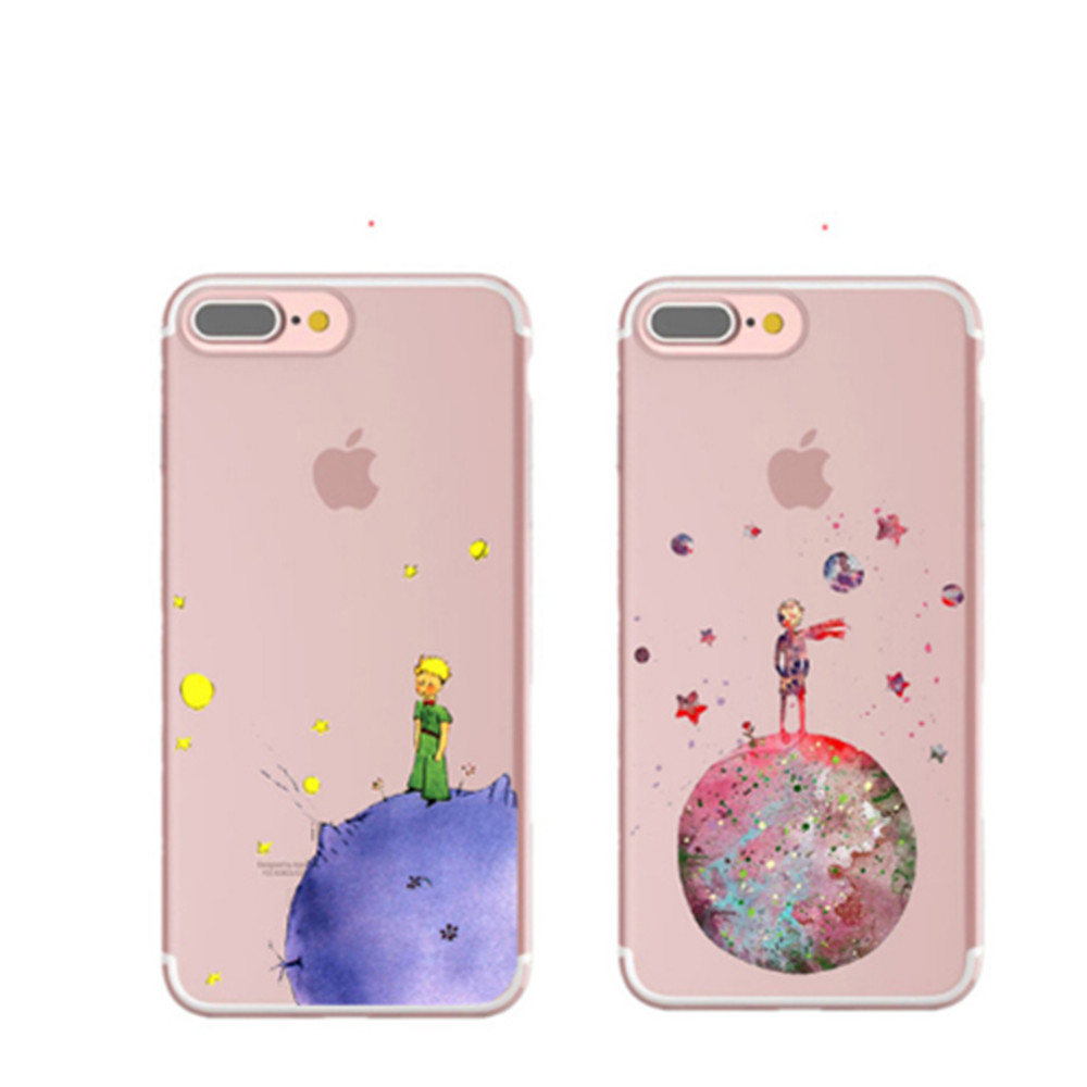 Cartoon The Little Prince The earth space Silicone Cover Case for iPhone 7 7 Plus 6 6S Plus 5 5S SE For Samsung S8 For Huawei P9