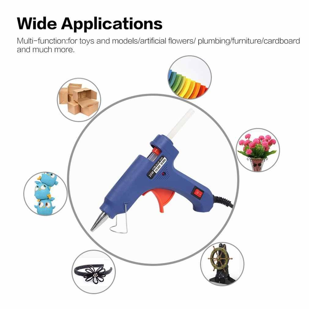 20W 220V Hot Melt Glue Gun with 10pcs Glue Stick Industrial Mini Guns Thermo Electric Heat Temperature Repair Tools