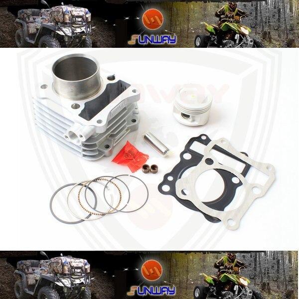 YIMATZU 2014 motociklo cilindro 57MM rinkinys, skirtas EN125 HJ125K-2 varikliui