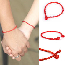 Ethnic Red String Rope DIY Handmade The Birth Year Lucky Red Rope Charm Bracelets for Men Women Couple Bracelet Reiki Amulet(China)