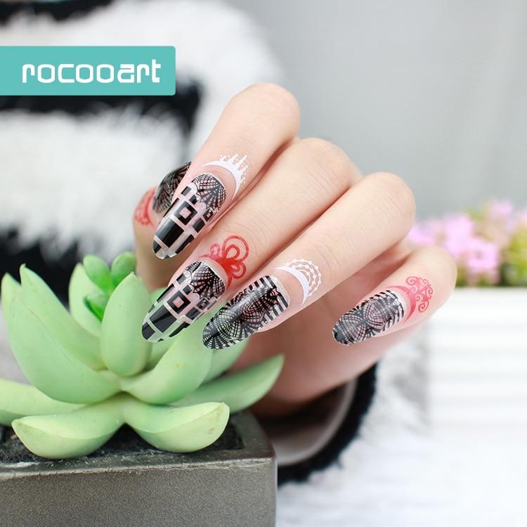 Transparent Diy Full Cover Nail Art Foils Polish Stickers