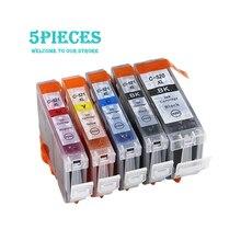 LuoCai Compatible Ink Cartridges for Canon PGI 520 CLI 521 MP540 MP550 MP620 MP630 MP640 MP980 MP990 MX860 MX870 printer PGI520 5pcs pgi 520 cli 521 compatible ink cartridges for canon pixma ip3600 ip4600 ip4700 mx860 mx870 printer pgi520 cli521 pgi 520