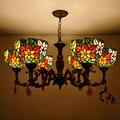 Тиффани Европейский Стиль Искусство витражное стекло подвесной светильник витражное стекло сад гостиная кафе кабинет зал столовая лампа