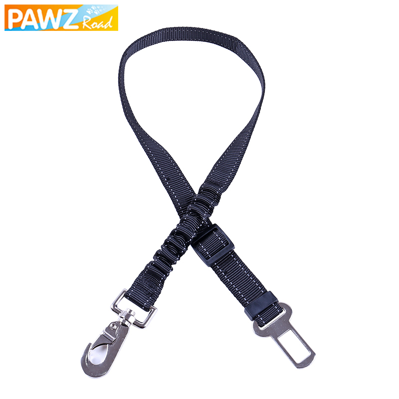 Domestic Delivery Pet Car Seat Belts Dog Collar Leash Solid 2 Head for Dog Car Safety Reflective Adjustable Nylon Harness Travel