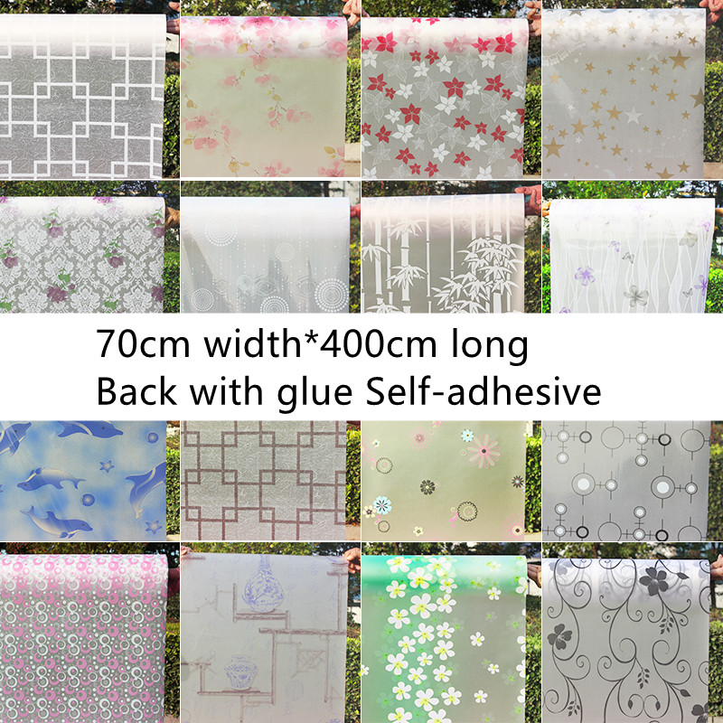 70cm *400cm Transparent opaque glazed paper frosted glass stickers window stickers bathroom shade windows painted cellophane